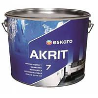ESKARO Akrit 7 Краска шелковисто-матовая для стен, обоев, стеклохолста, флизелина Эскаро Акрит 7