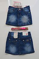 Джинсовая юбка для девочек 6- 16  лет