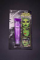 Грим фиолетовый, краски для лица детская косметика 19 грамм смываются водой, аквагрим, фото 1