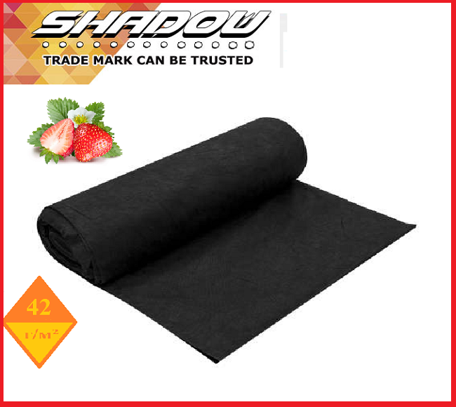 "Агроволокно  42 г/м², 3,2х100 м. чёрное в рулонах UF-4%  ""Shadow""(Чехия)"