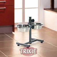 Регулируемая подставка с 2-мя мисками Trixie