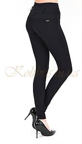 Лосины женские черный трикотаж размер 42