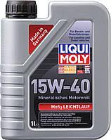 Минеральное моторное масло Liqui Moly MoS2 Leichtlauf Super Motoroil SAE 15W-40 1л