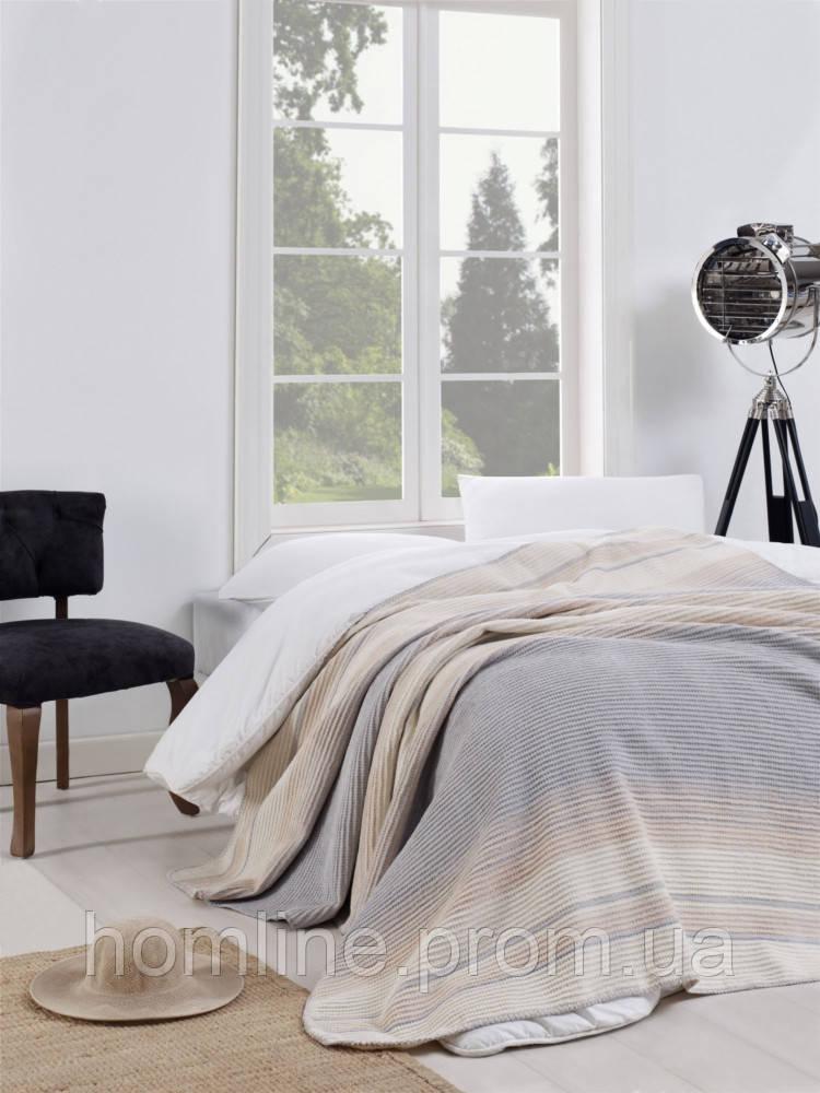 Плед-покрывало Eponj Home 150*200 Cizgili Gri серый