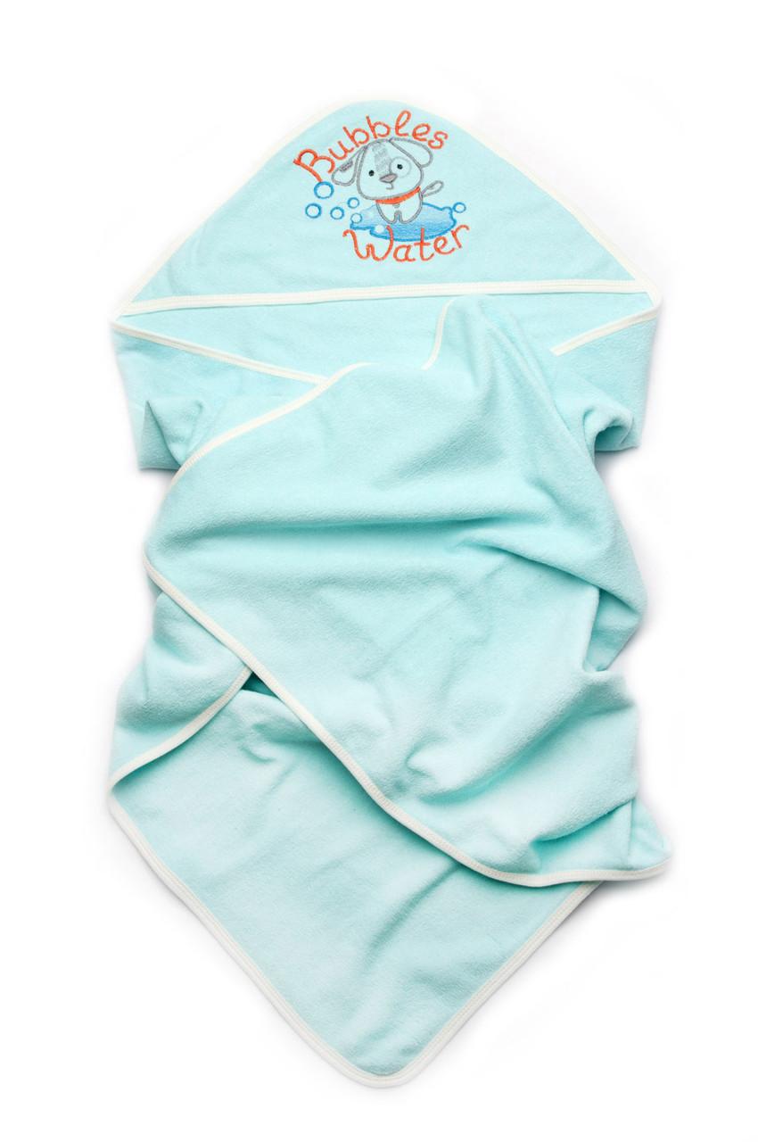 Детское полотенце для мальчика с капюшоном махровое для купания
