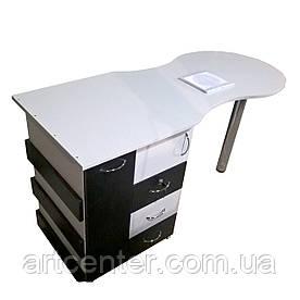 """Маникюрный стол с вытяжкой , ящиком """"карго"""", выдвижными ящиками"""