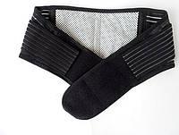 Пояс для спины, турмалин, с магнитными вставками, Чёрный. 1000928-Black-0