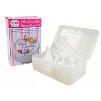 Набор для украшения тортов 100 Piece Cake Decoration Kit, кондитерские насадки для декорации 1001644-White-0