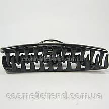 Заколка-краб узкая черная 128049 (Франция), фото 3