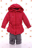 Детская Куртка и полукомбинезон весна-осень Рюша коралловый