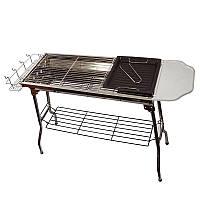 Складной мангал-барбекю BBQ Combined barbecue, домашний гриль 1002765-Silver-0