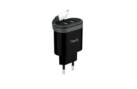 зарядное устройство Havit  HV-UC8810 micro usb black