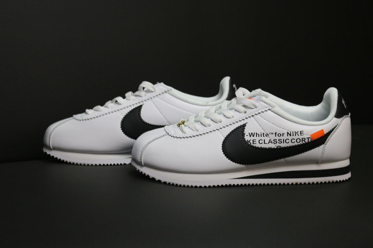 bec7177c304958 Мужские кроссовки Nike Cortez OFF WHITE(ТОП РЕПЛИКА ААА+): продажа ...