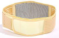 Турмалиновый пояс для согревания поясницы и поддержки спины. Бежевый. 1000928-Beige-0