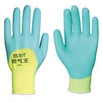 Перчатки рабочие стрейчевая покрытая вспененным силиконом