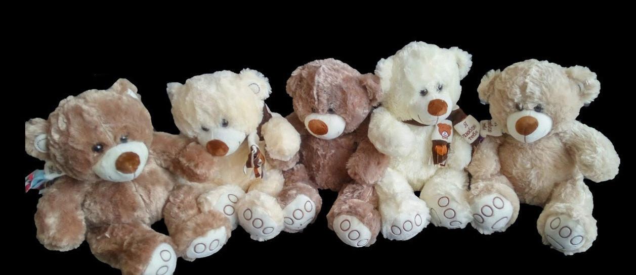 Мягкая игрушка Мишка 41 см плюшевый подарок любимой девушке на 8 марта день влюбленных