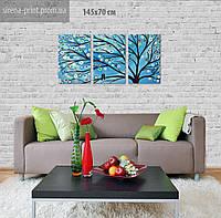 """Модульная картина на холсте """"Дерево"""" 142х70 см"""