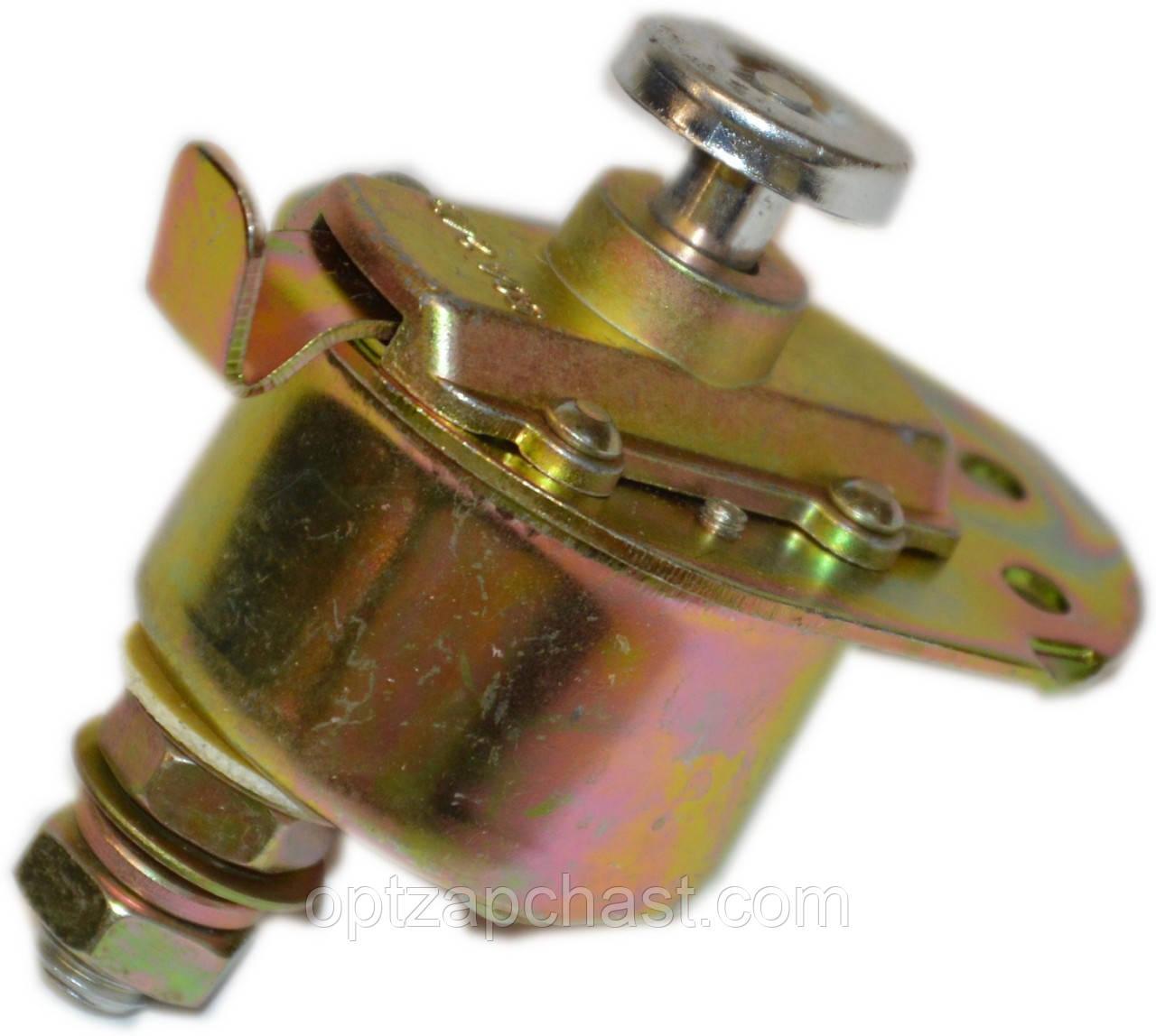 Выключатель массы ЗИЛ механический  (кнопка) 12V 24V (ВК 318Б)