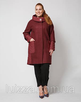 Пальто женское комби 48-58р, фото 2