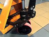 Рокла (гидравлическая тележка) ручная  CBY-AC20, Niuli, вилы 1150мм, фото 2
