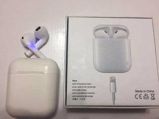 Беспроводные наушники Apple EarPods Ifans Bluetooth Earphone боксом для зарядки ЕирПодс копия под оригинал