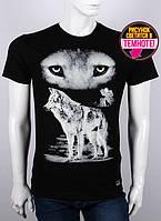 Молодежная мужская футболка с принтом волков - Ночь. Valimark 19042 светится в темноте!