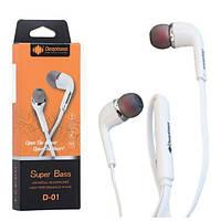 Наушники с микрофоном для телефона смартфона Deepbass D-01 Белый