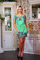 """Эффектное летнее платье мини """"Цветочки"""", фото 1"""
