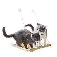 Лежанка для кошки оконная Sunny Seat Window Cat Bed, спальное место для кошек, лежак для котов  1000358-Beige-0