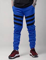 """Мужские штаны спортивные """"Флип"""" синие с черным. Живое фото"""