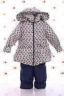 Детская Куртка и полукомбинезон демисезонная Рюша Белый бант