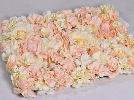 Квіткова панель 60х40 см персикова (1 штука)