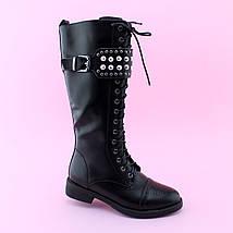 Детские черные демисезонные высокие ботинки девочке тм BIKI размер 33,34,35,36,37,38   , фото 3