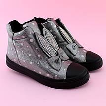 Детские демисезонные высокие кеды ботинки с ушками тм JG размер 33, фото 3