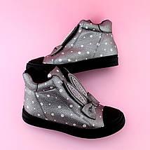 Детские демисезонные высокие кеды ботинки с ушками тм JG размер 33, фото 2
