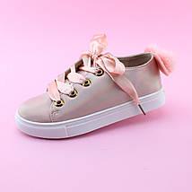 Детские кеды слипоны Атласные шнурки размер 33, фото 3