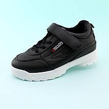 Детские черные кроссовки на танкетке размер 30,31,32,33,34,35   , фото 3
