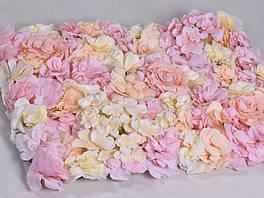 Цветочная панель 60х40 см пастельная (1 штука)