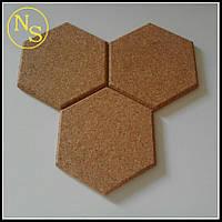 Сота (шестиугольник) из пробки 150х172х12мм, фото 1