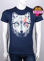 Молодежная мужская футболка с принтом волков - Одиночка. Valimark 19040 светится в темноте!