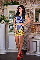 """Эффектное летнее платье мини """"Яркий принт"""", фото 1"""