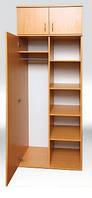 Шкаф для книг и одежды полузакрытый однодверный с антресолью (0635,0654)