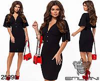Облегающее платье с глубоким декольте размеры S-М, фото 1