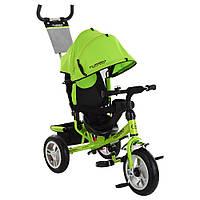 Велосипед M 3113-4A (1шт)три кол.резина (12/10),колясочный,тормоз,подшипн.,зеленый