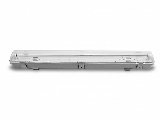EUROLAMP LH2-LED-T8(0,6) линейный светильник IP65 с крышкой под LED (ЛЕД) лампы Т8 600 без ПРА