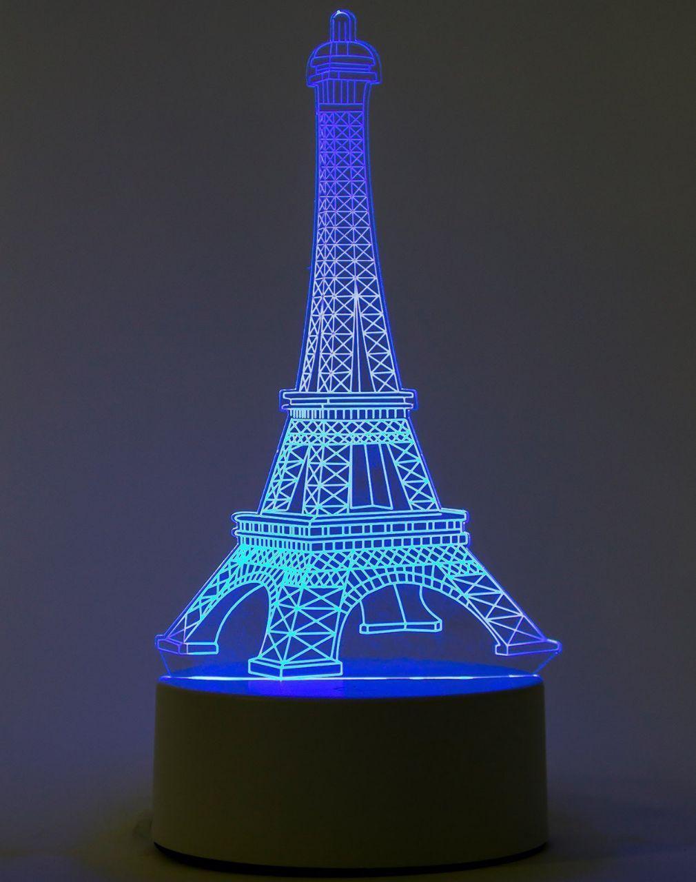 3D Ночник светильник Эйфелева башня 7 цветов 3D лампа-светильник LED ночник 3d башня иллюзия LED свет USB