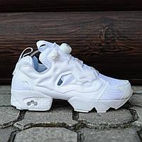 Женские кроссовки Reebok Insta Pump All White. Текстиль. EVA, фото 1