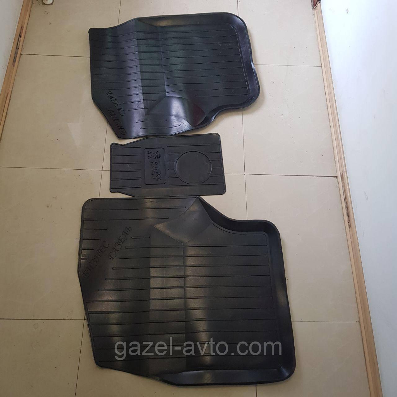 Коврики кабины резиновые Газель,Соболь (комплект 3 части)