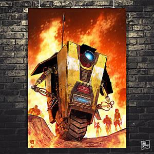 """Постер """"Borderlands. Робот"""". Пограничье, BL2. Размер 60x43см (A2). Глянцевая бумага"""