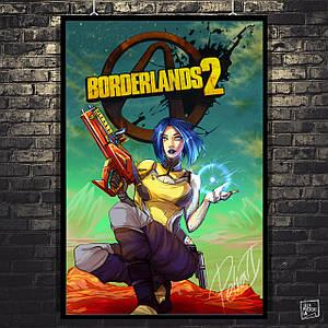 Постер Borderlands, Пограничье, BL2. Размер 60x41см (A2). Глянцевая бумага
